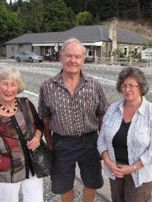 Members of the Luggate Community Association, including (from left) Sue Orbell, president Geoff...