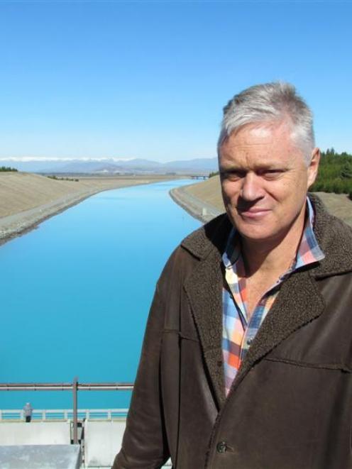 Meridian chief executive Mark Binns at the Pukaki hydro canal. Photo by Andrew Ashton.