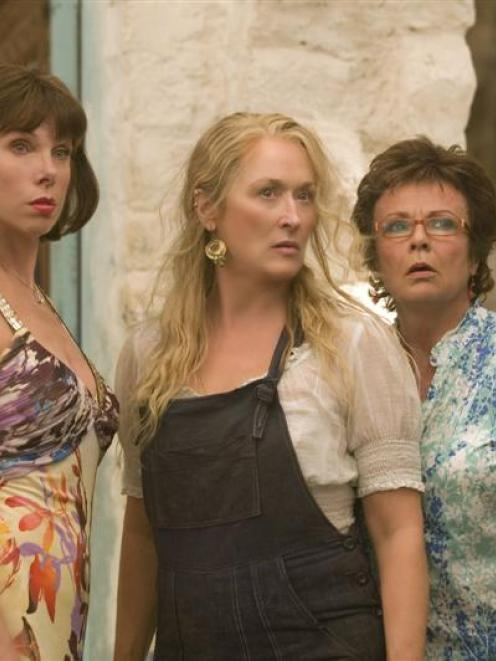 Meryl Streep (centre) and other cast members of Mamma Mia.