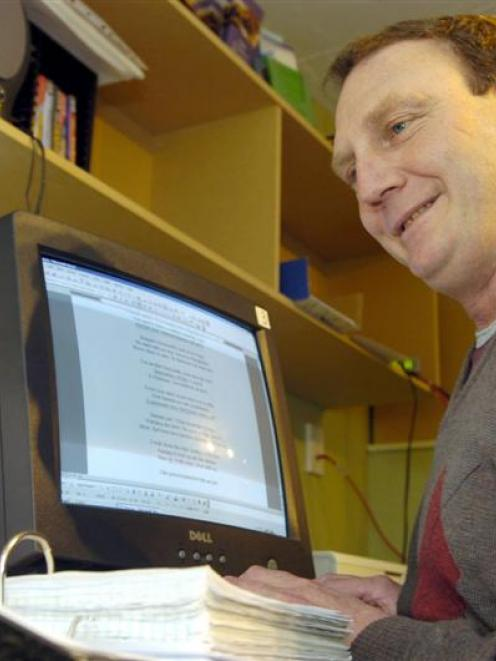 Michael Clegg has begun writing his first book after attending classes at Literacy Aotearoa...