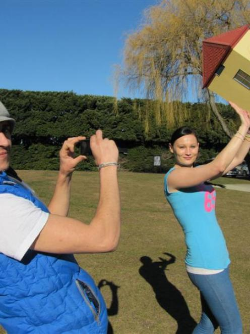 Mick San Juan Brady and Cindy O'Brien, both of Ireland, visit Puzzling World, Wanaka. Photo by...