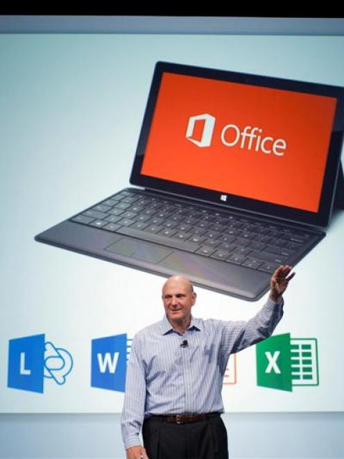 Microsoft CEO Steve Ballmer announces the customer preview of the new Microsoft Office in San...