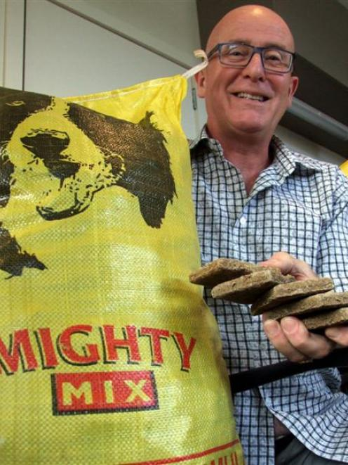 Mighty Mix general manager John Walker is enjoying running a dog food products business from...