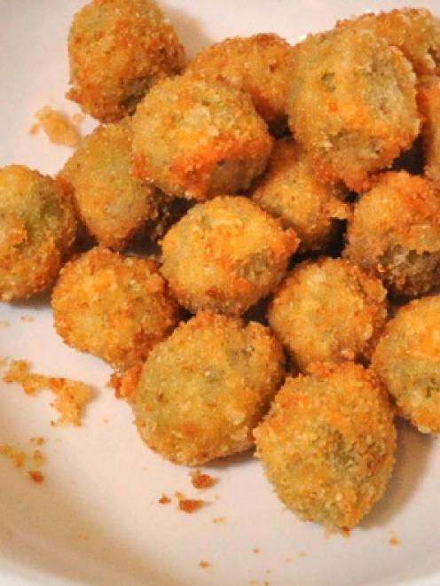 Mike's deep-fried olives. Photos by Gregor Richardson.
