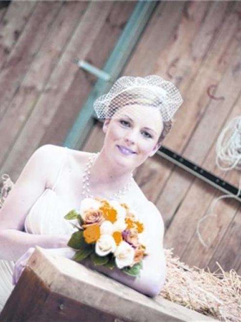 Nikita at her wedding to Mathew Woodhead in November last year. Photo by Calibre Photography.