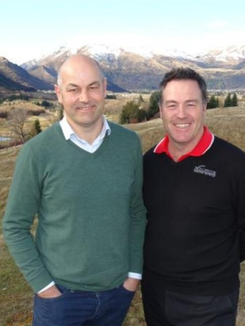 Millbrook property and development manager Ben O'Malley (left) and director of golf Brian Spicer...