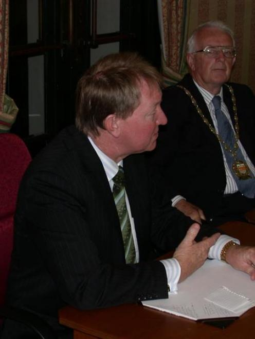Minister for the Environment Nick Smith (left) gives his views on the future of Environment...