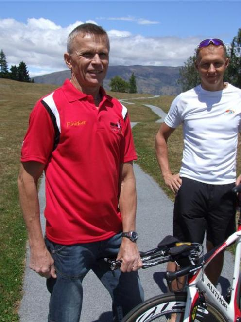 Miroslav Vrastil (left) with his Czech Republic compatriot and former rowing colleague Petr...