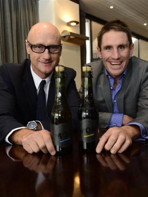 Moa Group chief executive Geoff Ross (left) and founder Josh Scott. Photo by Peter McIntosh.