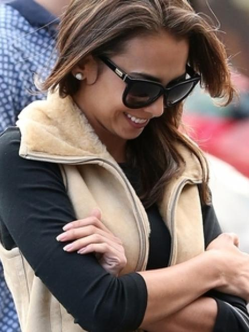Mona Dotcom leaving Ponsonby restaurant SPQR yesterday. Photo: NZ Herald/Jason Oxenham