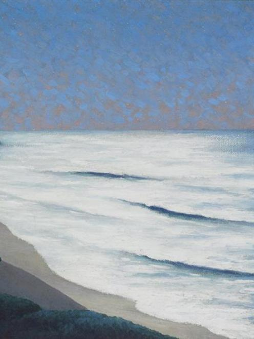 Moonlit seascape, 1930, by W. H. Allen