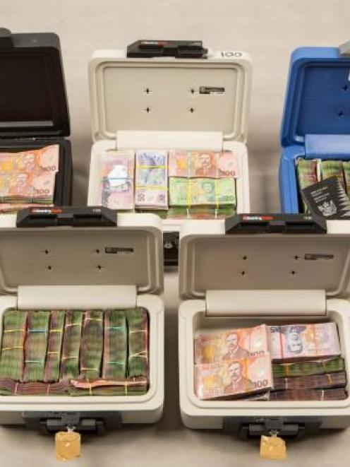 More than $2 million in cash was seized. Photo NZ Police