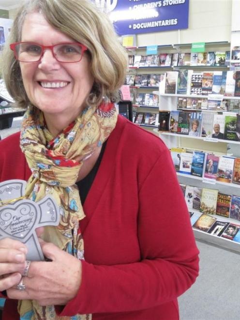 Mosgiel Christian Bookstore manager Lynne Mellon in the not-for-profit shop. Photo by Jonathan...