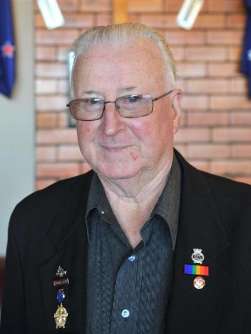 Mosgiel Memorial RSA president Sandy Trainor is keen to keep helping  as long as he can. Photo by...