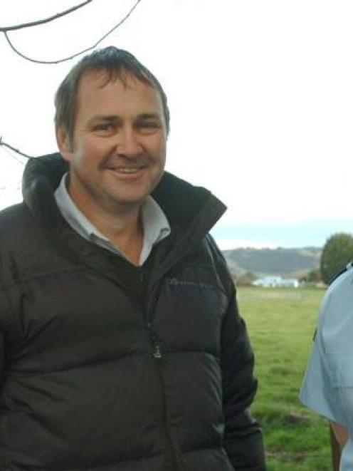 Mosgiel Taieri Community Board member Chris Adams and Mosgiel community constable Jacqui Ballam...