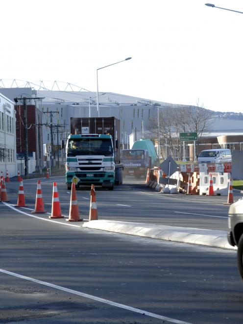 Motorists travel through the southern end of the recently completed State Highway 88 link at the...