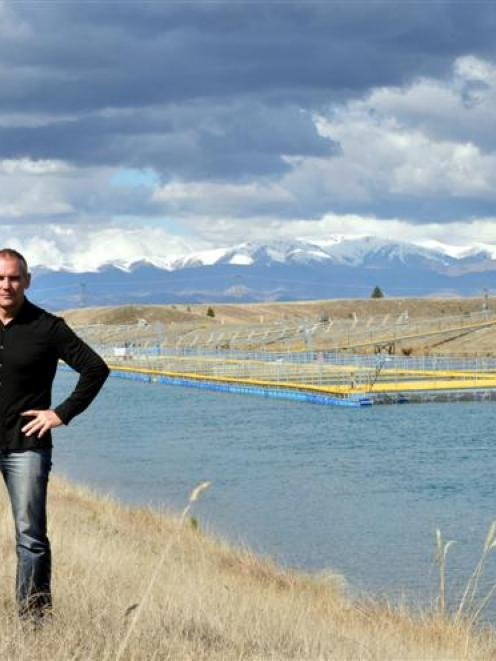 Mount Cook Alpine Salmon chief executive Geoff Matthews at the company's fish farm in the Ohau...