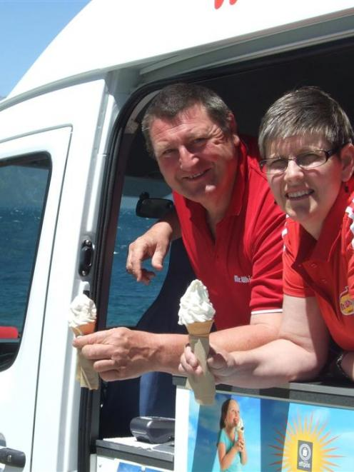 Mr Whippy franchise owners Linda and Steve Mitchell, of Cromwell,  have helped community groups...