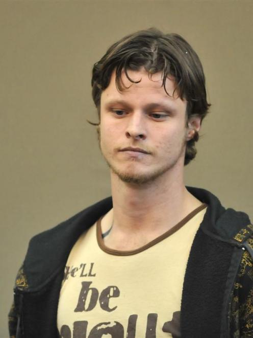 Murder accused Stephen Anthony Fernyhough in the Dunedin District Court yesterday. Photo by ODT.