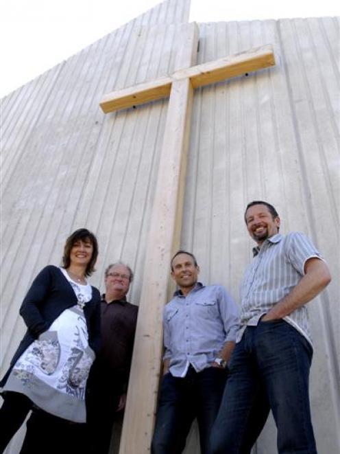 Musselburgh Baptist Church members (from left) Maria Kemp, Bill Graham, Geoff Kemp and Mike Tonks...