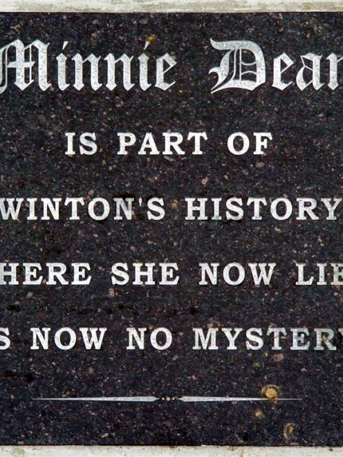 A new headstone lies on the spot where convicted child murderer Minnie Dean is buried. Photo by...