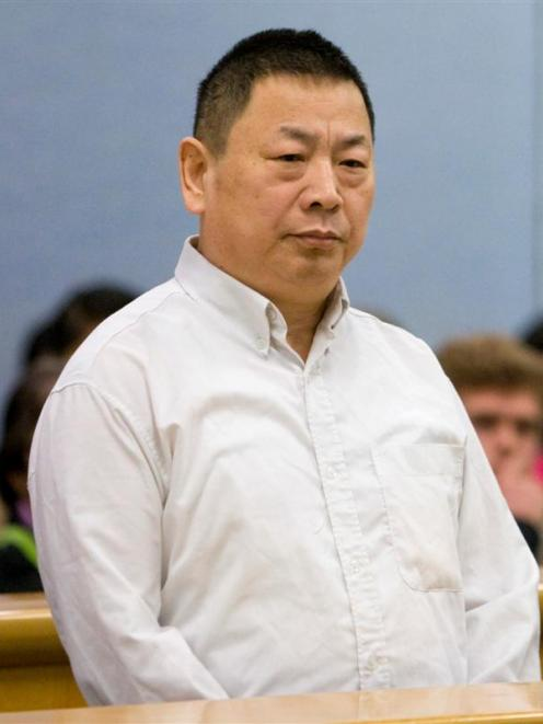 Nai Yin Xue shown during his trial. Photo by NZPA