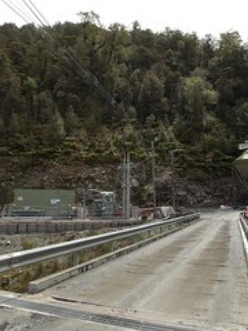 The entrance to the Pike River Coal mine where 29 workers are trapped
