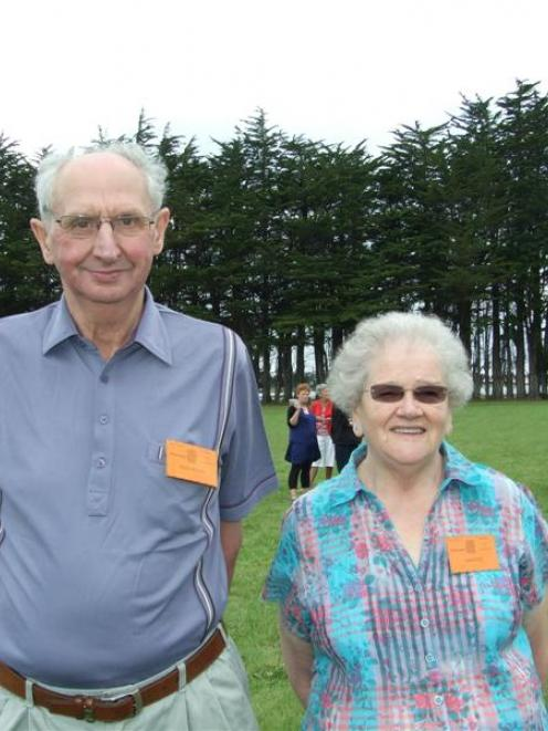 Nan Steel (72), a descendant of Margaret Blair, travelled from Scotland to attended the McLay...