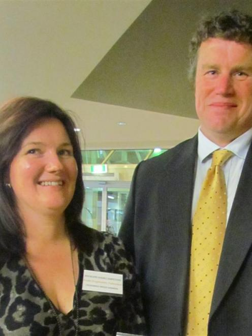 National ewe hogget competition winners Kirstin and Simon Engelbrecht, from Stoneburn. Photos...
