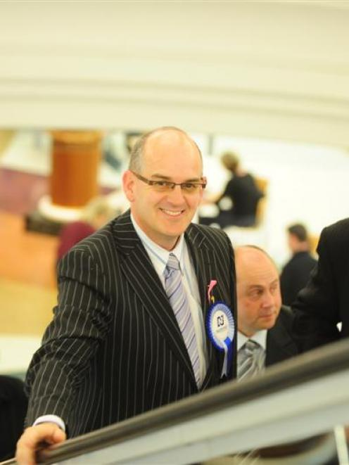 National Party Health spokesman Tony Ryall at the Meridian Mall in Dunedin yesterday. His visit...
