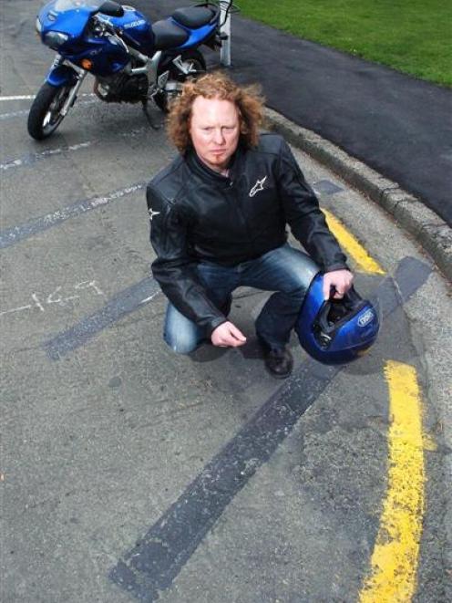 Natural History New Zealand post producer Mark Orton at a motorcycle park the Dunedin City...
