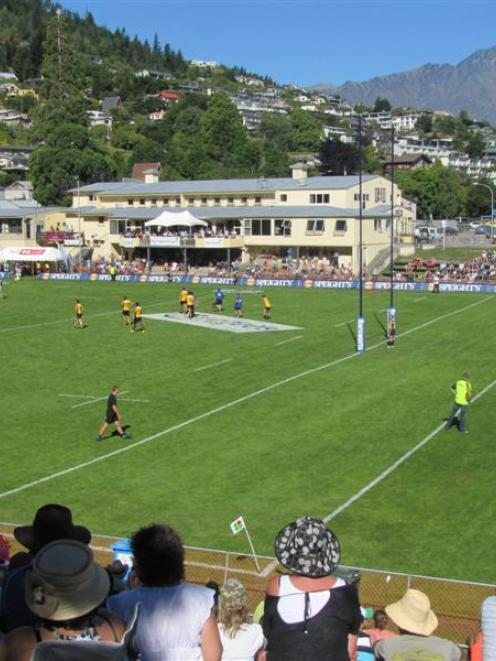 Nearly 5000 people converged on Queenstown Recreation Ground for the New Zealand Rugby Sevens...