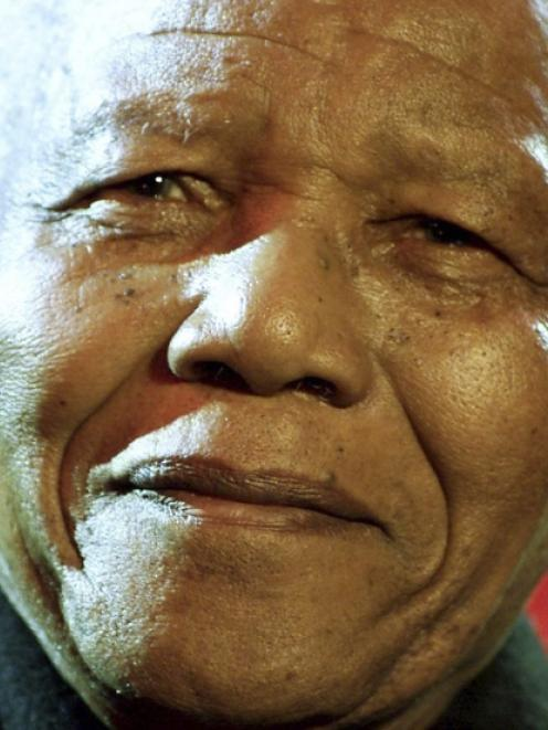 Nelson Mandela. Photo by Reuters