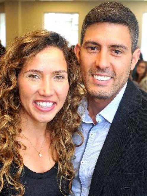 New citizens Raquel Bastos and Maykon Dias, from Brazil. PHOTO: CHRISTINE O'CONNOR