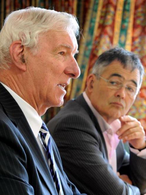 New Dunedin City Holdings Ltd member Denham Shale (left) and Dunedin Mayor Dave Cull. Photo by...