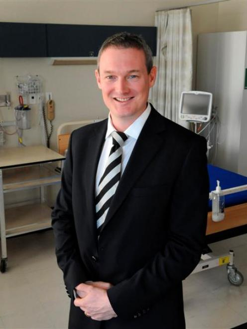 New Dunedin Hospital neurosurgeon Reuben Johnson in the neurosurgery department's newly...