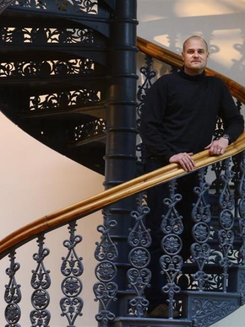 New Dunedin Public Art Gallery director Cam McCracken. Photo by Peter McIntosh.