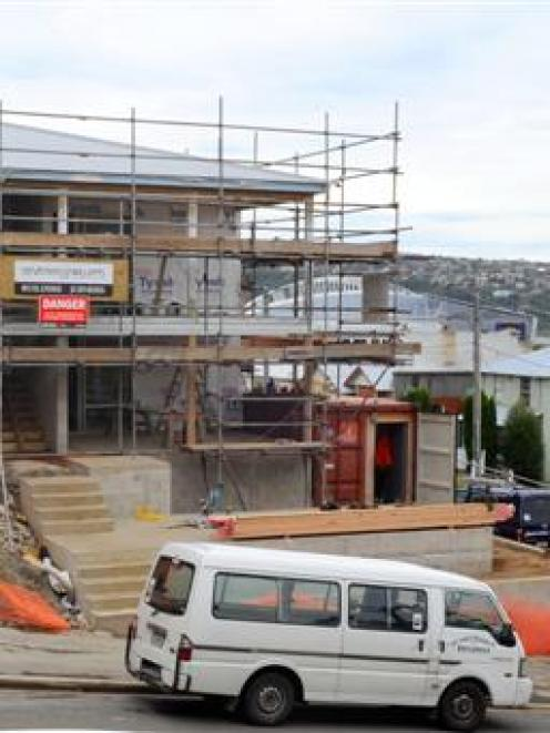 New dwellings like this one in Clyde St, Dunedin, are behind the lift in residential consents...