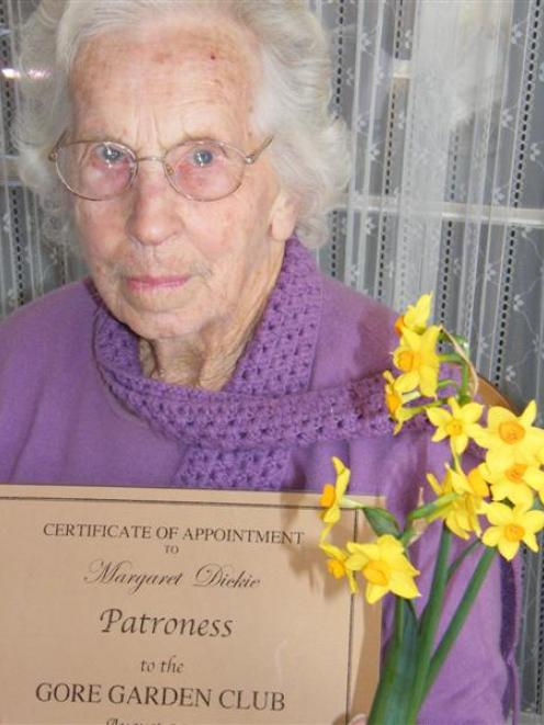 New Gore Garden Club patroness Margaret Dickie has had a life-long involvement in gardening and...