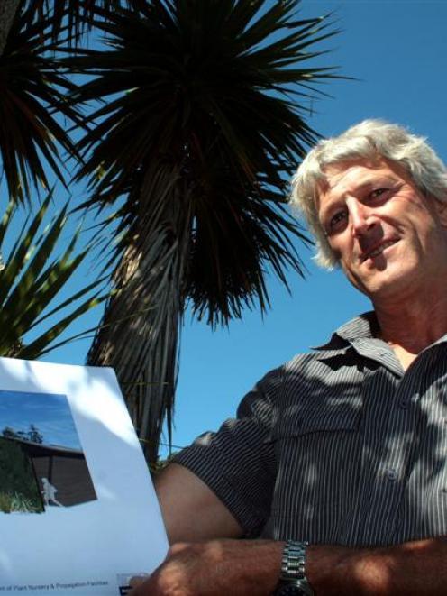 Dunedin Botanic Garden curator Alan Matchett shows what the garden's new plant nursery will look...