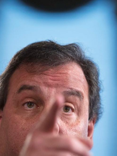 New Jersey Governor Chris Christie gives a news conference in Trenton. REUTERS/Carlo Allegri
