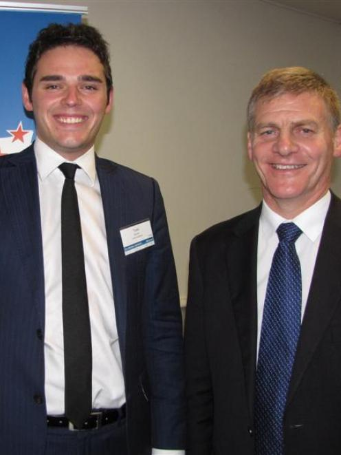 New National Clutha-Southland candidate Todd Barclay with  current MP and Deputy Prime Minister...