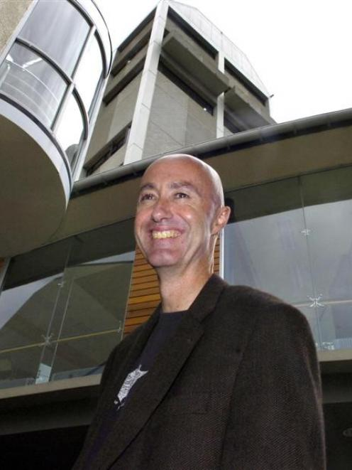 New University of Otago dean of indigenous studies Prof Paul Tapsell, outside the waka-shaped Te...