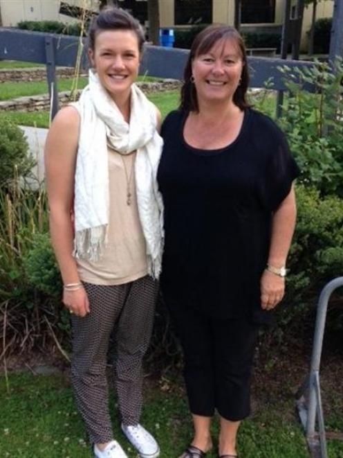 New Wakatipu High School sports co-ordinator Hayley Ward (left) and e-learning co-ordinator Peggy...