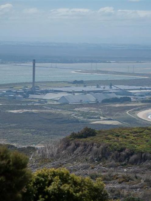 New Zealand Aluminium Smelters' Tiwai Point plant near Bluff.