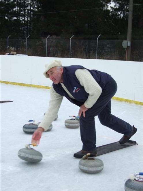 New Zealand Curling Association ice master Stewart McKnight, pictured in action during Macrae...