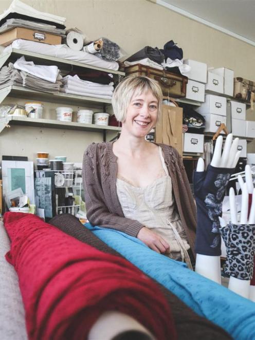 New Zealand designer Kate Watts in her Tees Ststudio. Photos by Rebecca Ryan.