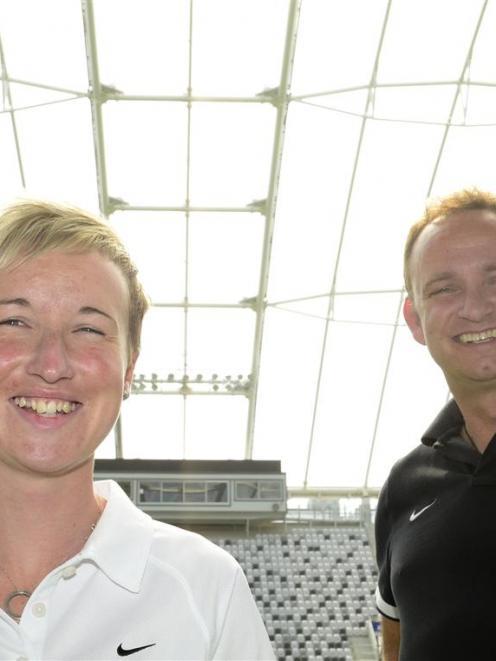 New Zealand Football head of football development Bev Priestman and New Zealand Football chief...
