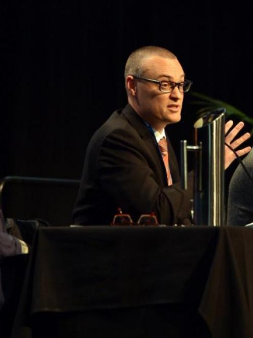 New Zealand Medical Association chief executive Lesley Clarke (left), Labour's David Clark ...