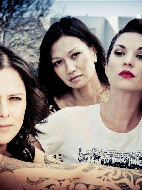 New Zealand musicians (from left) Anika Moa, Boh Runga and Hollie Smith.  Photo supplied.